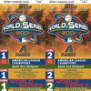 2001 World Series Tickets