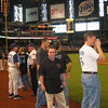 All the guys that attended the inaugural DBacks Fantasy camp got to attend a reunion during the 2006 regular season.  We got to go on the field for the opening ceremonies.