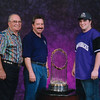 Dad, Danny & Kyle pose with the 2001 World Series Trophy.