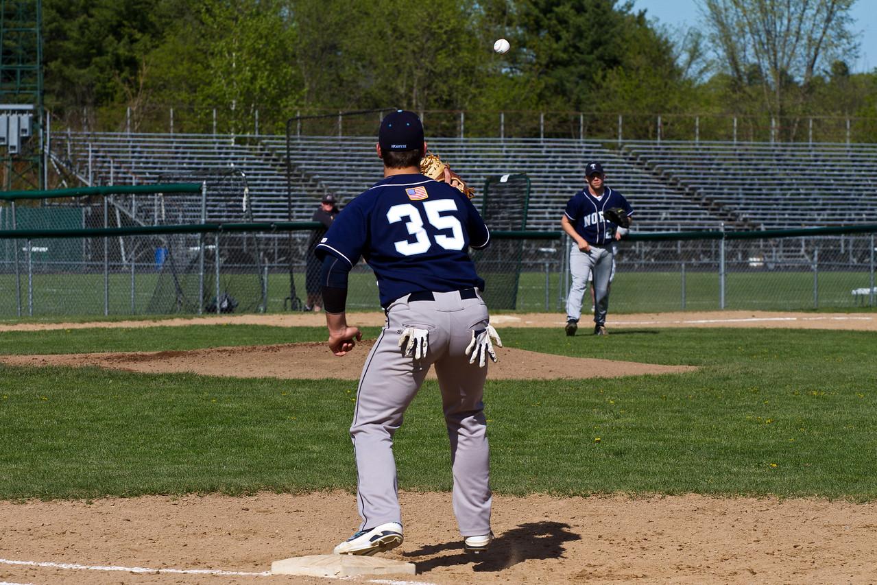 Joe Breen and Cam Duval Retire a Hitter