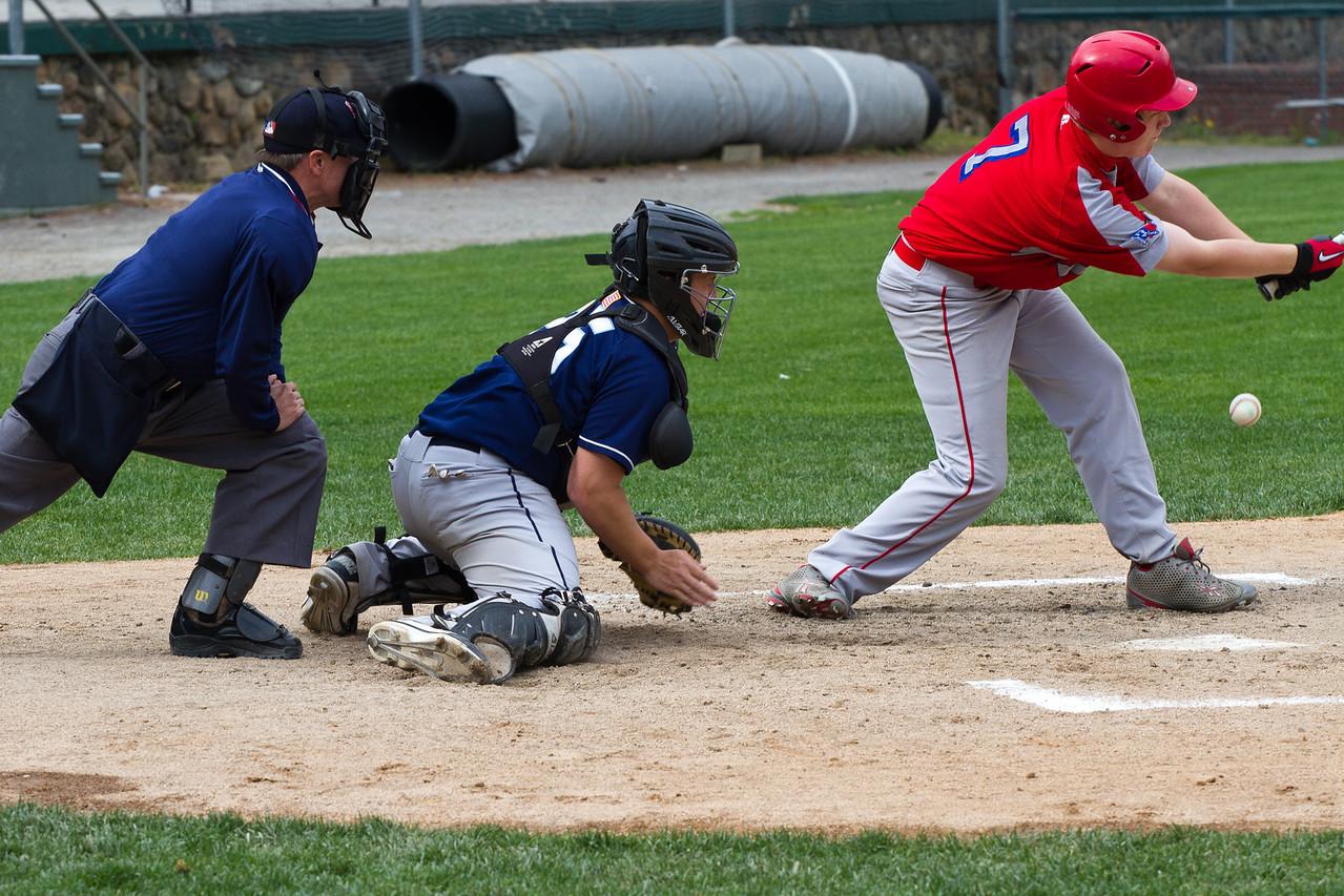 Adam Leith Blocks a Ball In the Dirt