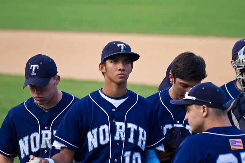 Centerfielder Keon Jenkins Before the Trinity Playoff Game