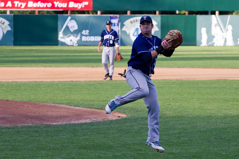 Joe Breen Shows Off His Athleticism During Infield Warmups Before Trinity Playoff Game