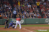 David Ortiz at bat on Friday, September 20, 2013 as the Boston Red Sox clinched the MLB American League Eastern Division.