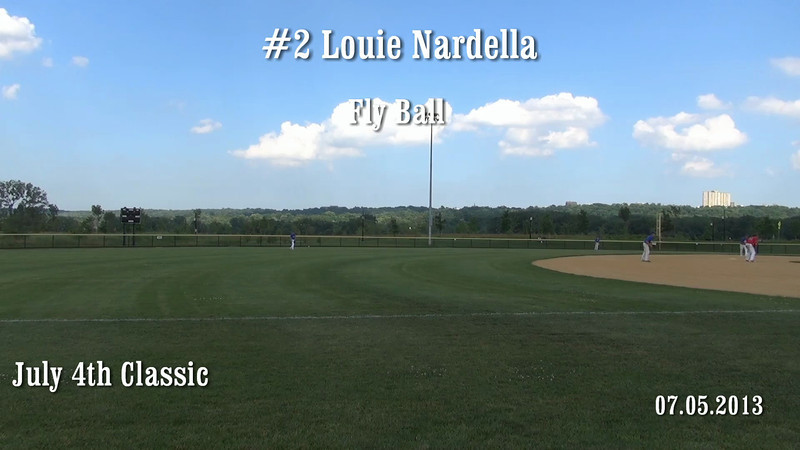 #2 Louie Nardella catches a fly ball