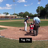 Top 7th: Outs made by P #24 Mike Pascoe (strikes out two) & LF #18 Sean Trenholm.