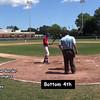 Bottom 4th: #1 Anthony Pecora, #11 Phillip Capra, #25 Griffin Dey & #15 Alex Volpi at bat.