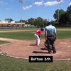 Bottom 6th: #23 Joey Assenza, #27 Tom Brady, #1 Anthony Pecora, #11 Phillip Capra, & #25 Griffin Dey at bat,
