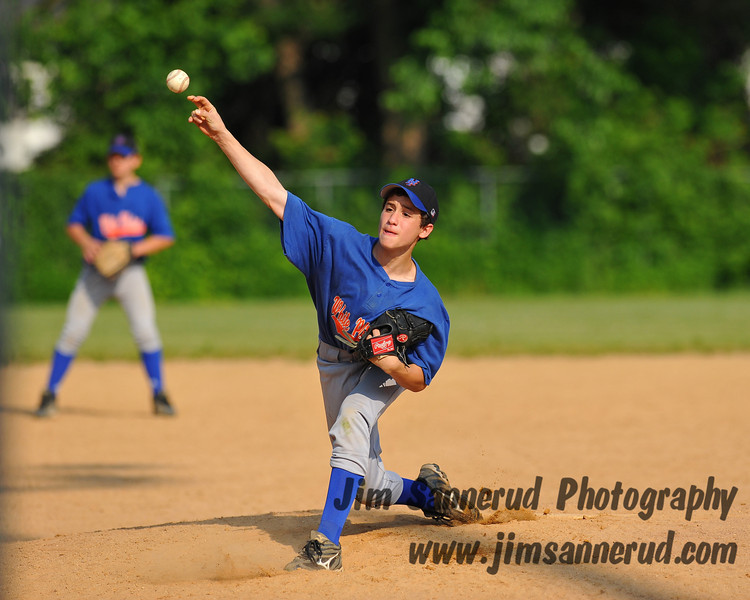 Babe Ruth division, White Plains Little League. White Plains Mets vs. White Plains Yankees, June 2010