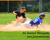 Runner was safe. The second baseman dropped the ball. White Plains American vs. Dobbs Ferry, July 2009