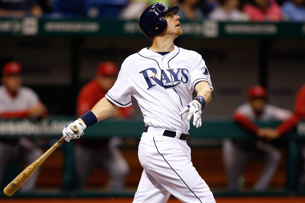 Tampa Bay Rays right fielder Ben Zobrist (18) at bat during the game at Tropicana Field.