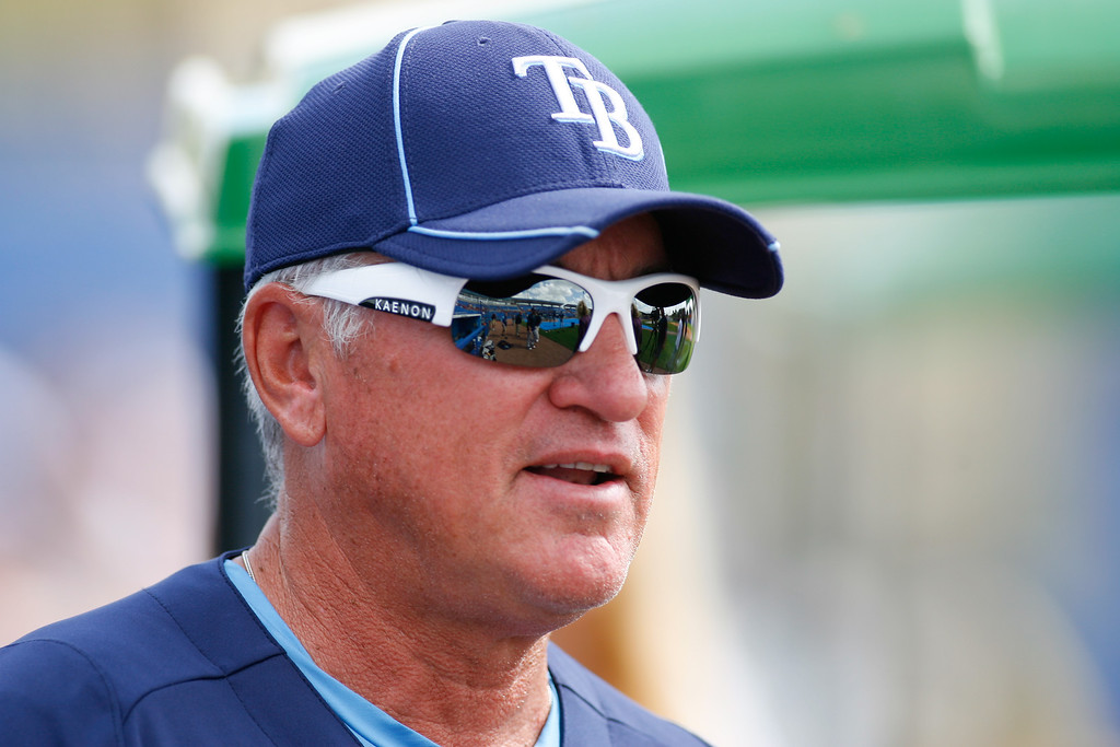 Tampa Bay Rays Manager Joe Madden prior to a Grapefruit League Spring Training Game at the Florida Auto Exchange Stadium.