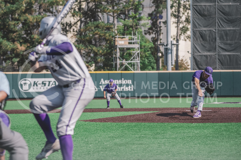 K-State concludes the Fall World Series, Shave for the Brave. Team Grey took a 6-3 victory over Team Purple. K-State baseball Shave For The Brave scrimmage was located at Tointon Baseball Stadium on Oct 10, 2020. (Dylan Connell | Collegian Media Group)