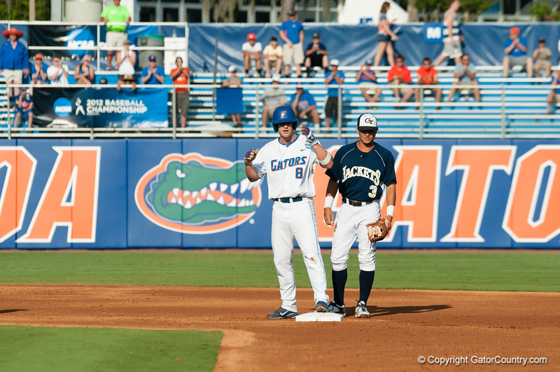 Florida fsenior Daniel Pigott during the Gators' 15-3 win against the Georgia Tech Yellow Jackets Sunday June 3, 2012 at the McKethan Stadium in Gainesville, Fla. / Gator Country photo by Saj Guevara
