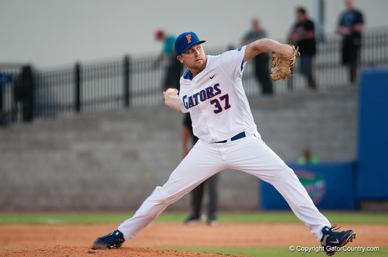 Florida senior Greg Larson during the Gators' 15-3 win against the Georgia Tech Yellow Jackets Sunday June 3, 2012 at the McKethan Stadium in Gainesville, Fla. / Gator Country photo by Saj Guevara