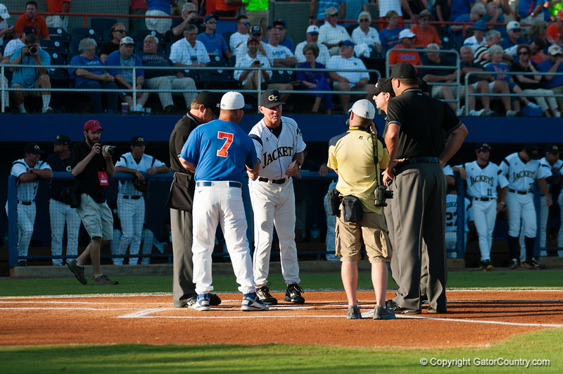 Florida head coach Kevin O'Sullivan during the Gators' 6-2 win against the Georgia Tech Yellow Jackets Saturday June 2, 2012 at the McKethan Stadium in Gainesville, Fla. / Gator Country photo by Saj Guevara