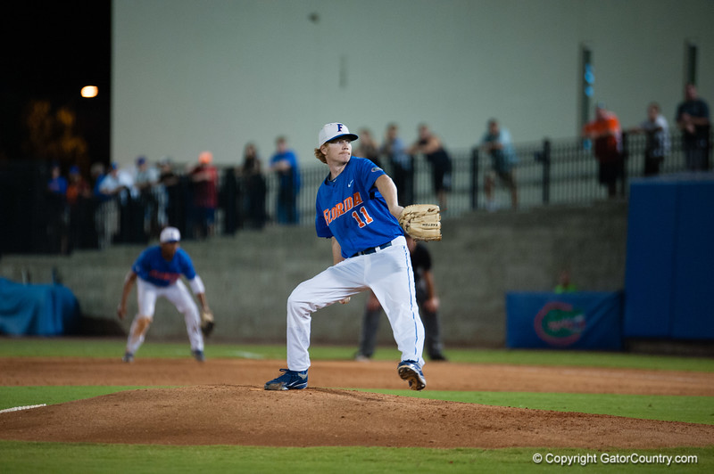 Florida junior Hudson Randall during the Gators' 6-2 win against the Georgia Tech Yellow Jackets Saturday June 2, 2012 at the McKethan Stadium in Gainesville, Fla. / Gator Country photo by Saj Guevara