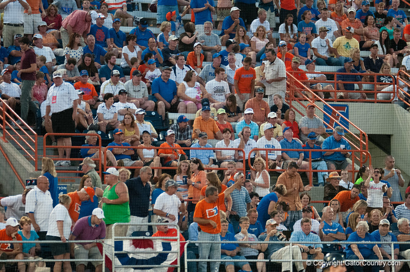 Florida crowd during the Gators' 6-2 win against the Georgia Tech Yellow Jackets Saturday June 2, 2012 at the McKethan Stadium in Gainesville, Fla. / Gator Country photo by Saj Guevara