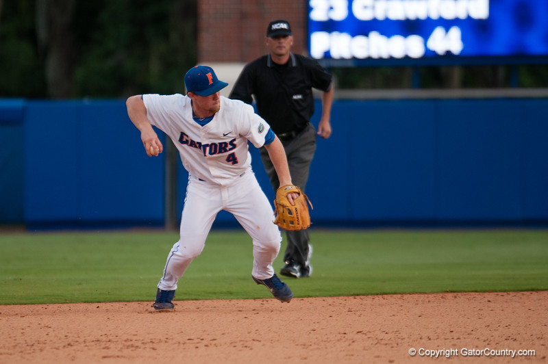 Florida junior Nolan Fontana during the Gators' 4-0 win against the Bethune-Cookman Wildcats Friday June 1, 2012 at the McKethan Stadium in Gainesville, Fla. / Gator Country photo by Saj Guevara