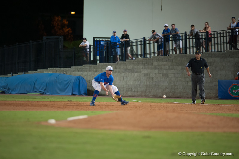 Florida junior Austin Maddox during the Gators' 1-5 loss against the Arkansas Razorbacks Saturday April 28, 2012 at the McKethan Stadium in Gainesville, Fla. / Gator Country photo by Saj Guevara