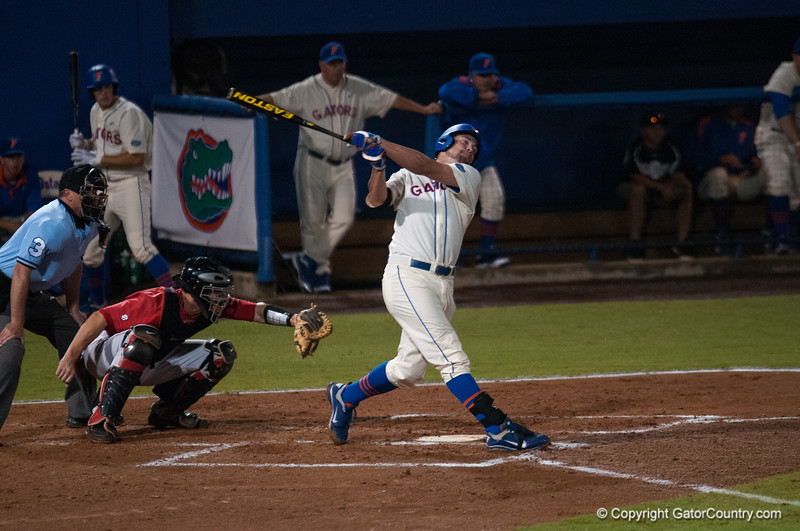 Florida junior Brian Johnson at bat  during the Gators' 5-3 loss against the Georgia Bulldogs Saturday April 21, 2012 at the McKethan Stadium in Gainesville, Fla. / Gator Country photo by Saj Guevara