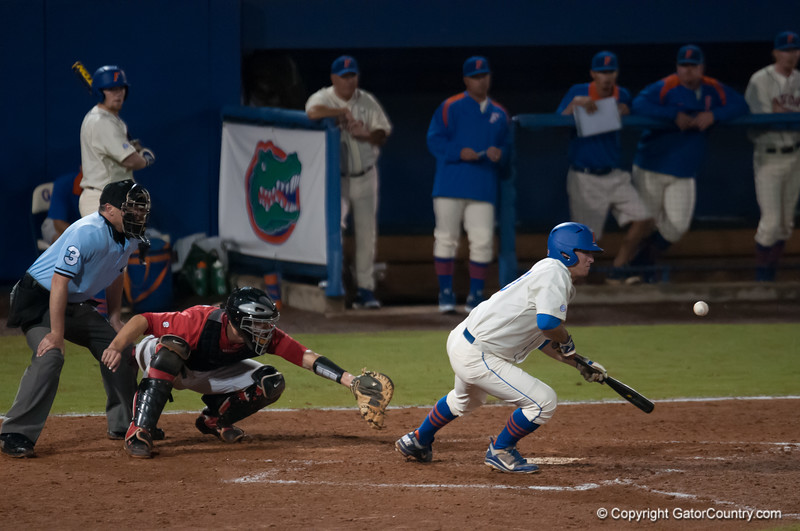 Florida junior Cody Dent  at bat during the Gators' 5-3 loss against the Georgia Bulldogs Saturday April 21, 2012 at the McKethan Stadium in Gainesville, Fla. / Gator Country photo by Saj Guevara