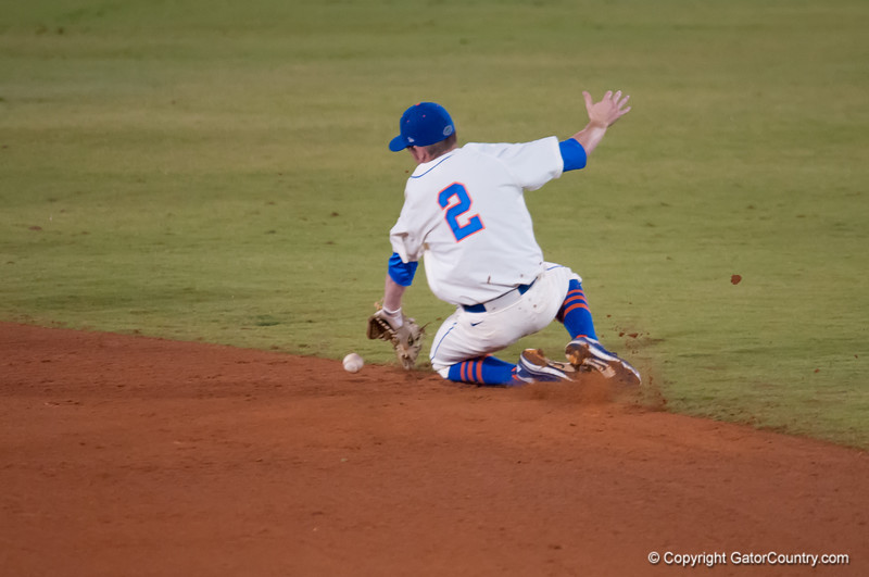 Florida freshman Casey Turgeon catches a  ground ball during the Gators' 5-3 loss against the Georgia Bulldogs Saturday April 21, 2012 at the McKethan Stadium in Gainesville, Fla. / Gator Country photo by Saj Guevara