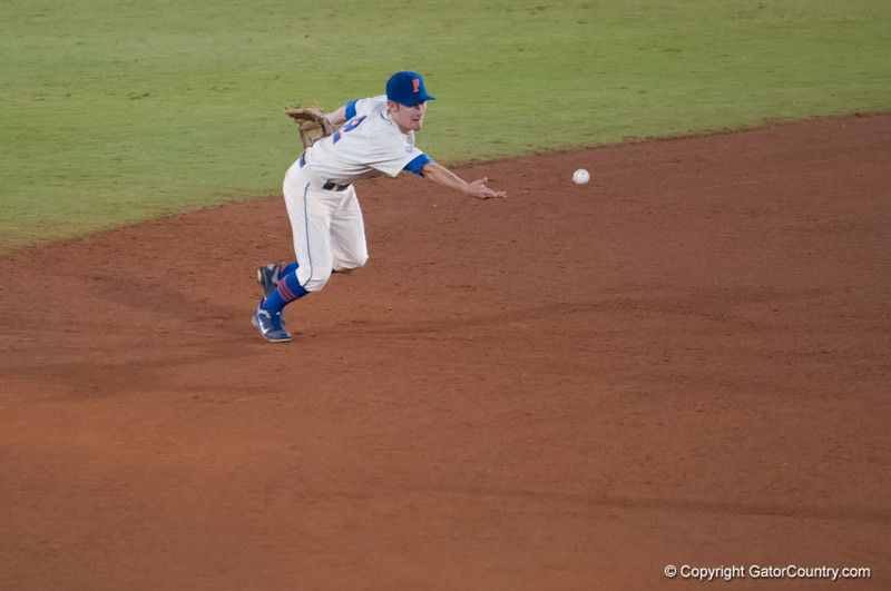 Florida freshman Casey Turgeon throws to 2nd base during the Gators' 5-3 loss against the Georgia Bulldogs Saturday April 21, 2012 at the McKethan Stadium in Gainesville, Fla. / Gator Country photo by Saj Guevara