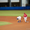Florida junior Nolan Fontana got hit cleat up during the Gators' 5-3 loss against the Georgia Bulldogs Saturday April 21, 2012 at the McKethan Stadium in Gainesville, Fla. / Gator Country photo by Saj Guevara