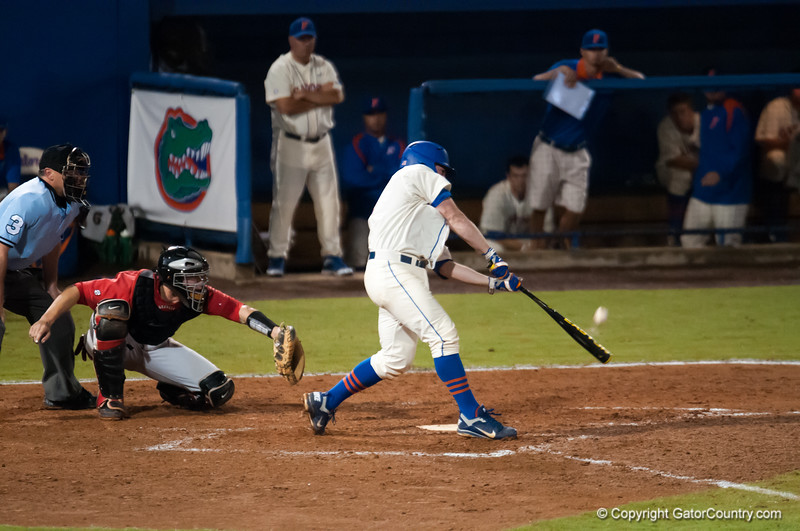 Florida junior Nolan Fontana bats during the Gators' 5-3 loss against the Georgia Bulldogs Saturday April 21, 2012 at the McKethan Stadium in Gainesville, Fla. / Gator Country photo by Saj Guevara