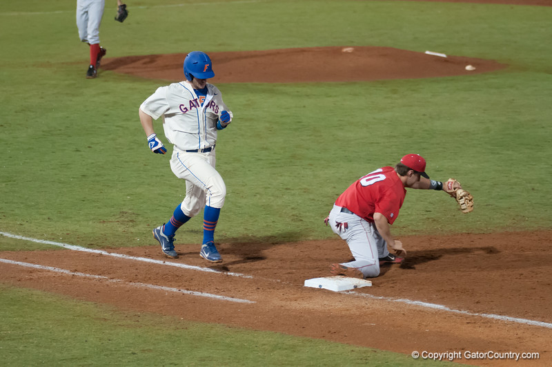 Florida junior Mike Zunino  is out during the Gators' 5-3 loss against the Georgia Bulldogs Saturday April 21, 2012 at the McKethan Stadium in Gainesville, Fla. / Gator Country photo by Saj Guevara