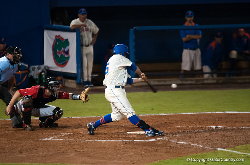 Florida senior Preston Tucker  bats during the Gators' 5-3 loss against the Georgia Bulldogs Saturday April 21, 2012 at the McKethan Stadium in Gainesville, Fla. / Gator Country photo by Saj Guevara