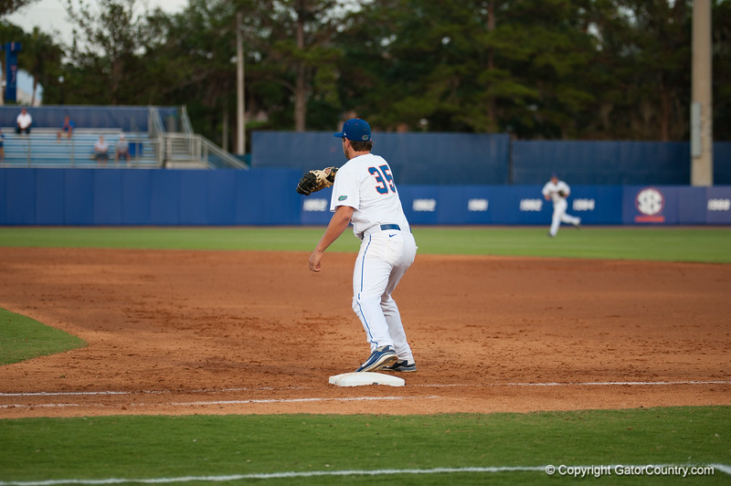 Florida junior Brian Johnson during the Gators' 4-1 win against the Mississippi State Bullgods Friday May 11, 2012 at the McKethan Stadium in Gainesville, Fla. / Gator Country photo by Saj Guevara