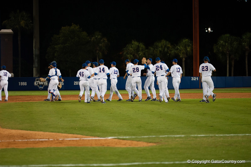 Florida team during the Gators' 4-1 win against the Mississippi State Bullgods Friday May 11, 2012 at the McKethan Stadium in Gainesville, Fla. / Gator Country photo by Saj Guevara