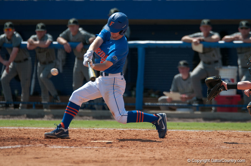 Florida freshman Casey Turgeon at bat during the Gators' 8-2 win against the Vanderbilt Commodores Sunday, March 18, 2012 at the McKethan Stadium in Gainesville, Fla. / Gator Country photo by Saj Guevara