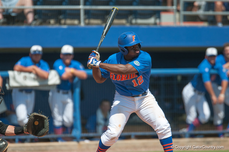 Florida freshman Josh Tobias at bat during the Gators' 8-2 win against the Vanderbilt Commodores Sunday, March 18, 2012 at the McKethan Stadium in Gainesville, Fla. / Gator Country photo by Saj Guevara