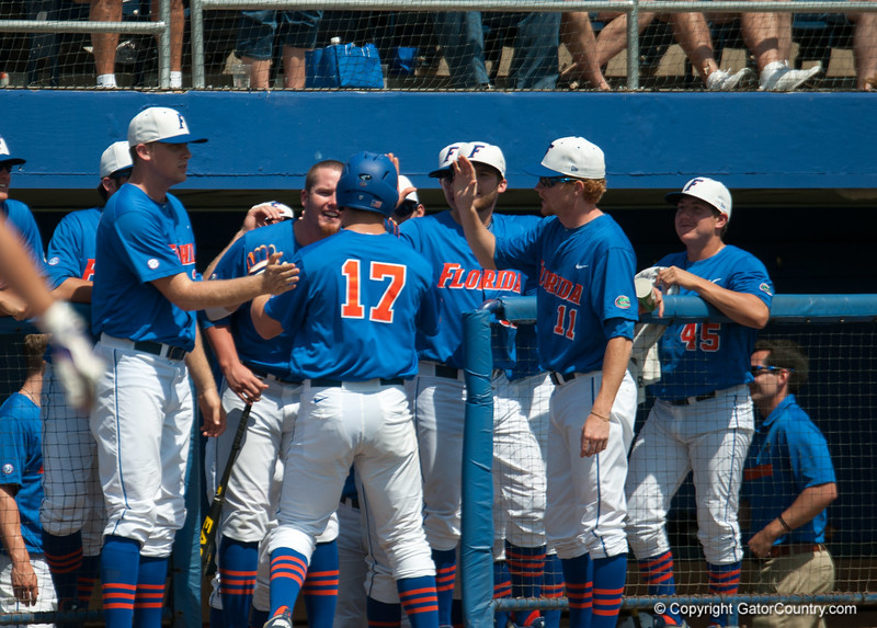 Florida baseball team during the Gators' 8-2 win against the Vanderbilt Commodores Sunday, March 18, 2012 at the McKethan Stadium in Gainesville, Fla. / Gator Country photo by Saj Guevara