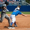 Florida freshman Taylor Gushue catches an out at first base during the Gators' 8-2 win against the Vanderbilt Commodores Sunday, March 18, 2012 at the McKethan Stadium in Gainesville, Fla. / Gator Country photo by Saj Guevara