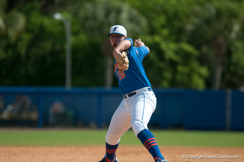 Florida junior pitcher Austin Maddox during the Gators' 8-2 win against the Vanderbilt Commodores Sunday, March 18, 2012 at the McKethan Stadium in Gainesville, Fla. / Gator Country photo by Saj Guevara
