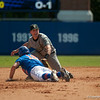 Florida freshman Justin Shafer is out after sliding back to 2nd base during the Gators' 8-2 win against the Vanderbilt Commodores Sunday, March 18, 2012 at the McKethan Stadium in Gainesville, Fla. / Gator Country photo by Saj Guevara