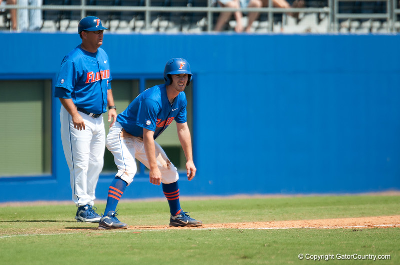 Florida freshman Casey Turgeon at 3rd base during the Gators' 8-2 win against the Vanderbilt Commodores Sunday, March 18, 2012 at the McKethan Stadium in Gainesville, Fla. / Gator Country photo by Saj Guevara