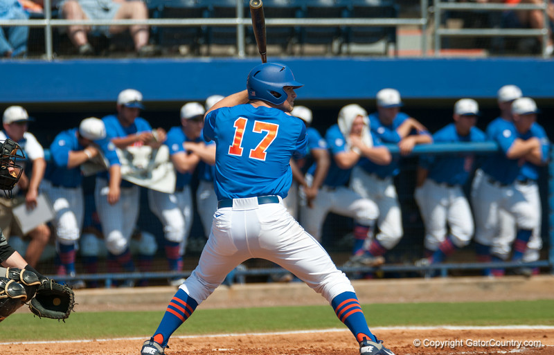 Florida freshman Taylor Gushue at bat during the Gators' 8-2 win against the Vanderbilt Commodores Sunday, March 18, 2012 at the McKethan Stadium in Gainesville, Fla. / Gator Country photo by Saj Guevara