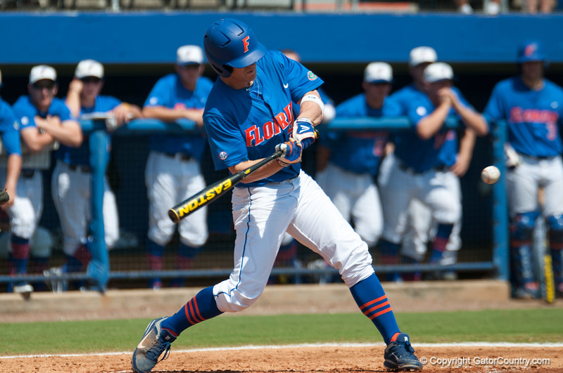 Florida senior Daniel Pigott at bat  during the Gators' 8-2 win against the Vanderbilt Commodores Sunday, March 18, 2012 at the McKethan Stadium in Gainesville, Fla. / Gator Country photo by Saj Guevara