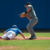 Florida junior Nolan Fontana slides back to 1st base during the Gators' 8-2 win against the Vanderbilt Commodores Sunday, March 18, 2012 at the McKethan Stadium in Gainesville, Fla. / Gator Country photo by Saj Guevara