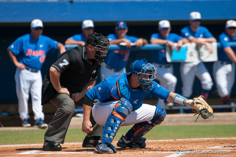 Florida junior catcher Mike Zunino  during the Gators' 8-2 win against the Vanderbilt Commodores Sunday, March 18, 2012 at the McKethan Stadium in Gainesville, Fla. / Gator Country photo by Saj Guevara