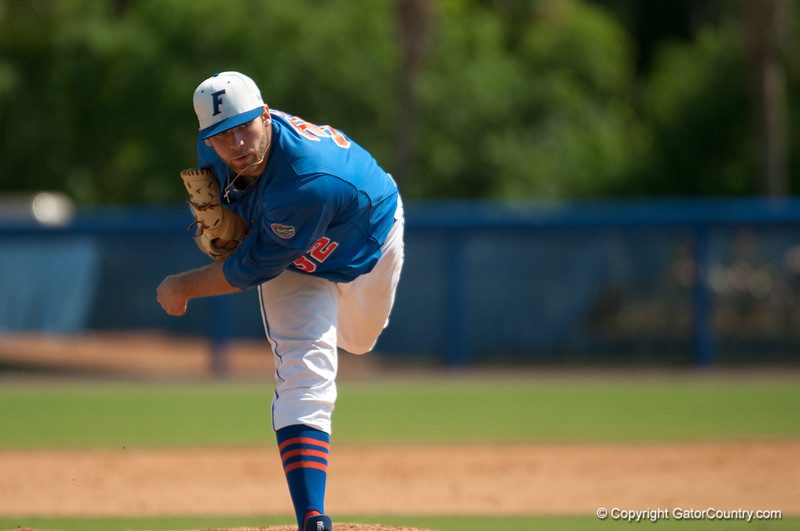 Florida junior pitcher Steven Rodriguez during the Gators' 8-2 win against the Vanderbilt Commodores Sunday, March 18, 2012 at the McKethan Stadium in Gainesville, Fla. / Gator Country photo by Saj Guevara