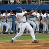 Florida's Josh Tobias singles during the Gators' game against North Carolina State in Game 1 of the Gainesville Super Regional in McKethan Stadium on June 9, 2012.