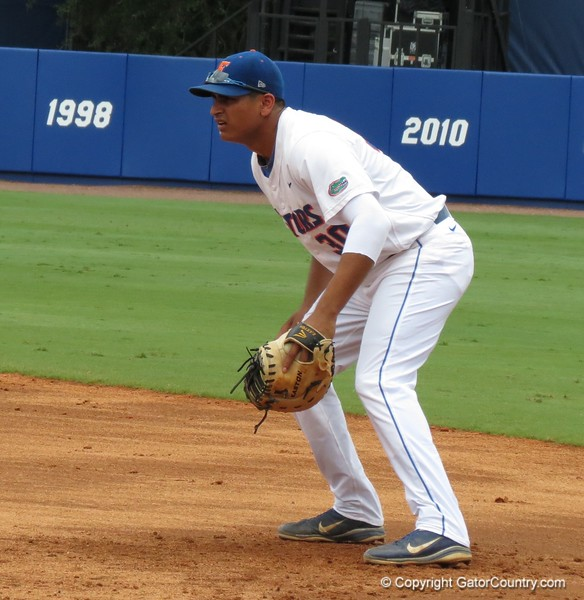 Florida's Vickash Ramjit in the Gators' game against North Carolina State in Game 1 of the Gainesville Super Regional in McKethan Stadium on June 9, 2012.