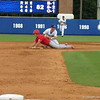 Florida shortstop Nolan Fontana with a late tag on a stolen base during the Gators' game against North Carolina State in Game 1 of the Gainesville Super Regional in McKethan Stadium on June 9, 2012.