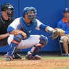 Florida junior catcher Mike Zunino during the Gators' game against North Carolina State in Game 1 of the Gainesville Super Regional in McKethan Stadium on June 9, 2012.